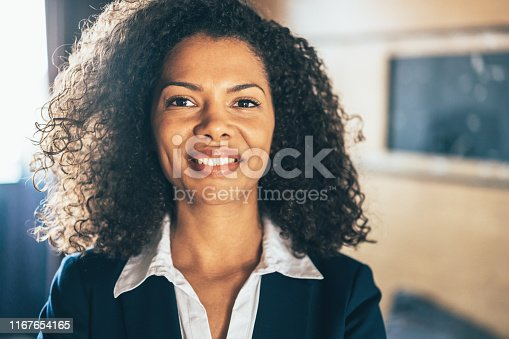 Portrait of beautiful confident afro-american business woman