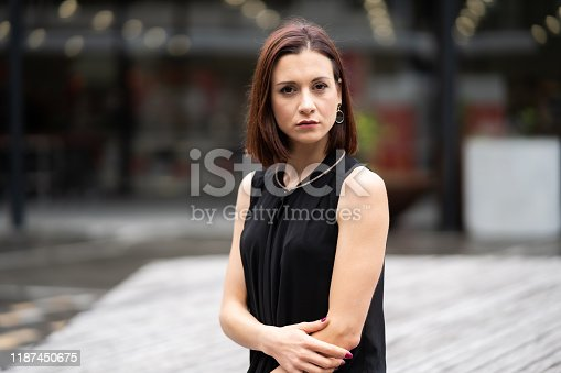 981750034 istock photo Portrait of confident business woman. 1187450675