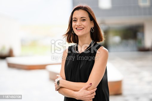 981750034 istock photo Portrait of confident business woman. 1187450708