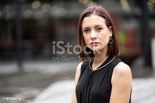 981750034 istock photo Portrait of confident business woman. 1187450716