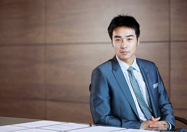Portrait of confident businessman  only japanese stock pictures, royalty-free photos & images