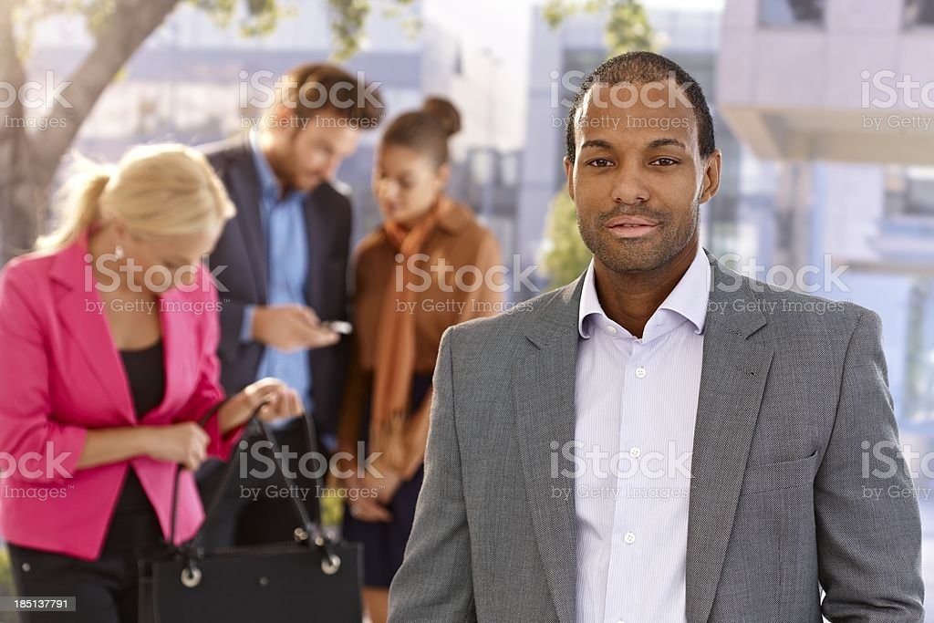 Portrait of confident businessman royalty-free stock photo