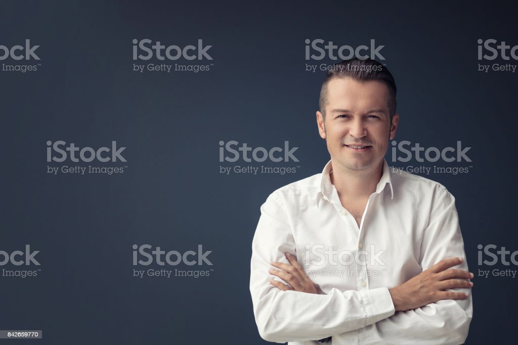 Portrait of confident businessman. stock photo