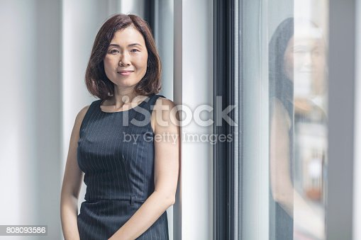 istock Portrait of confident businesswoman in office 808093586