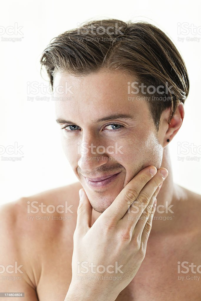Portrait of confident handsome young man royalty-free stock photo