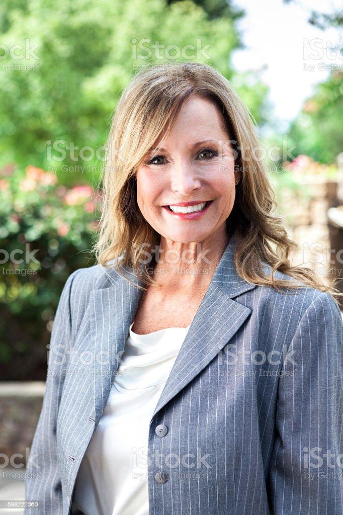 Retrato de Mulher de negócios madura confiante  foto royalty-free