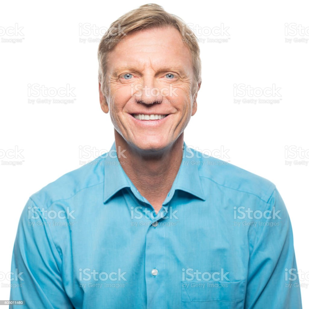 Portrait of confident mature man smiling royalty-free stock photo