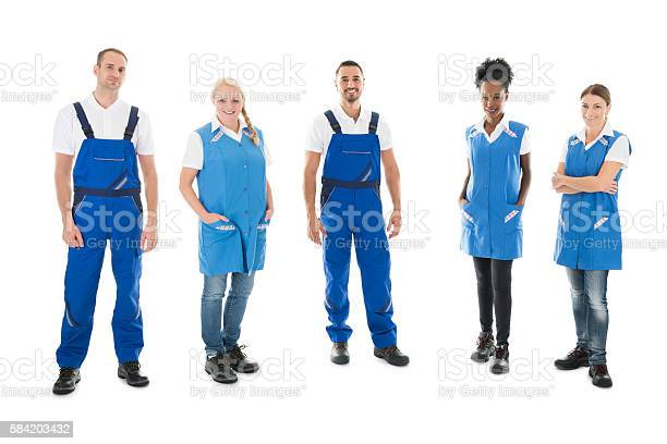 Portrait of confident multiethnic janitors standing in row picture id584203432?b=1&k=6&m=584203432&s=612x612&h=gmaxysq6lwflj xyngzfoum7k98wcxq6viqof3p4b6e=