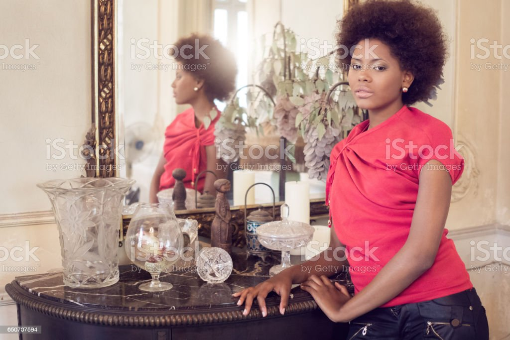 Portrait of confident woman, Havana, Cuba stock photo