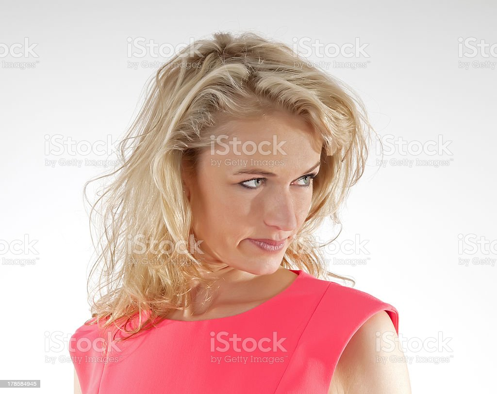 Portrait of confident woman stock photo