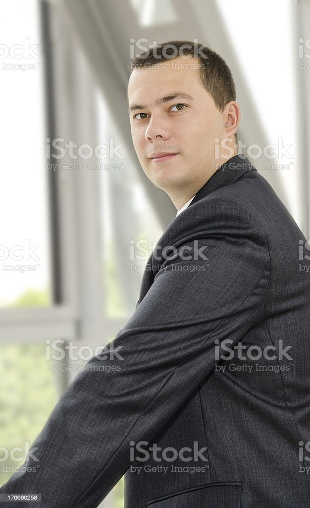 Portrait of confident young businessman royalty-free stock photo
