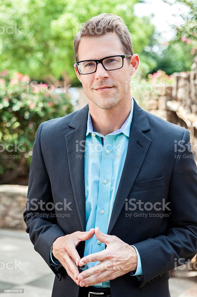 Portrait of confident young Caucasian businessman foto royalty-free