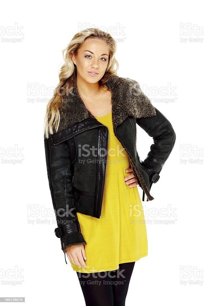 Portrait of confident young female model royalty-free stock photo