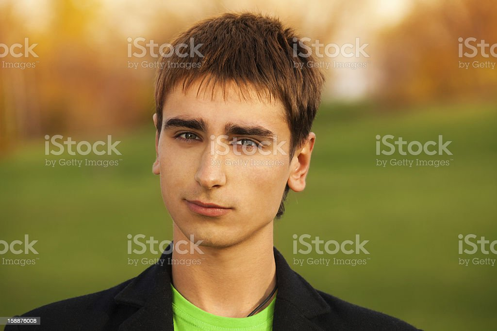 Portrait of confident young man royalty-free stock photo