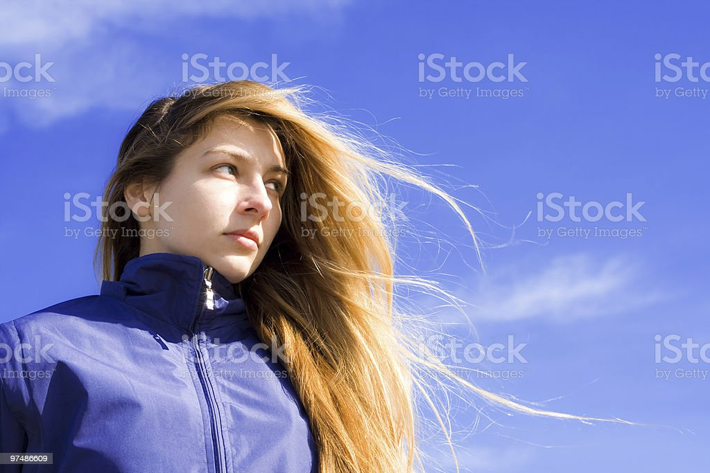 Portrait of confident young woman royalty-free stock photo