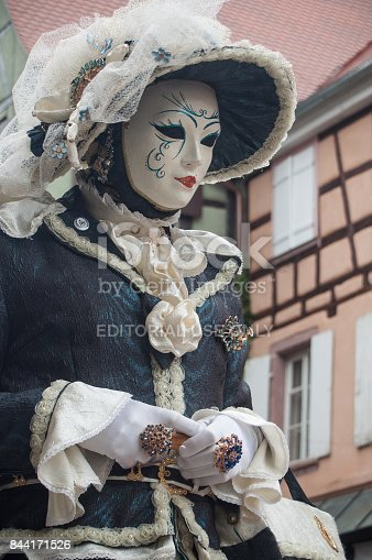474303291 istock photo portrait of Costumed woman at the Venetian Parade in Riquewihr in Alsace 844171526