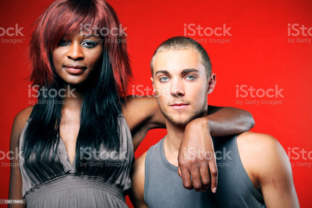 Portrait of Couple stock photo