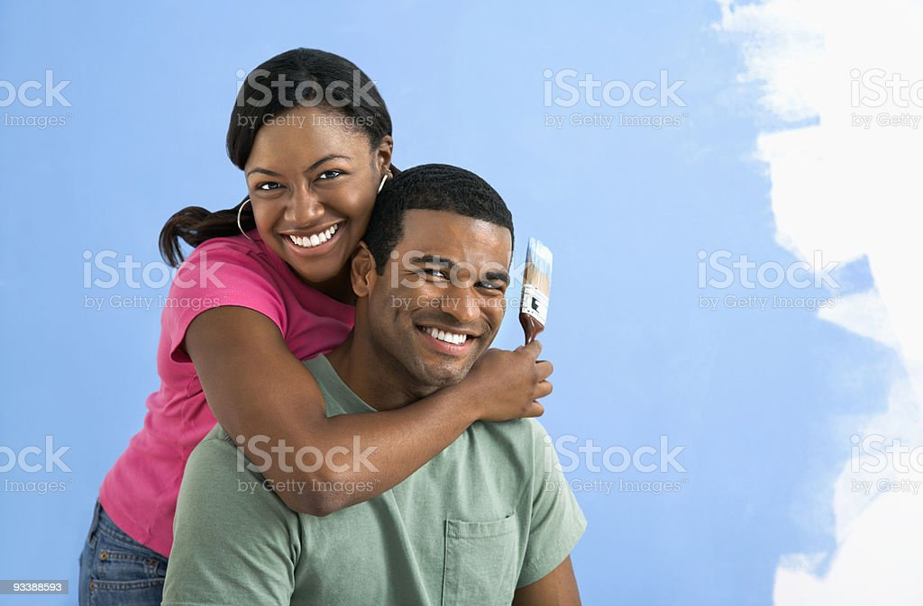 Portrait of couple royalty-free stock photo