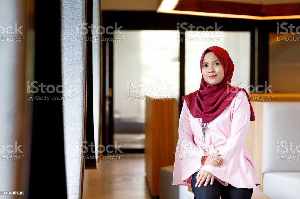 Creative Muslim Woman Designer In Modern Office - Royalty-free Adult Stock Photo