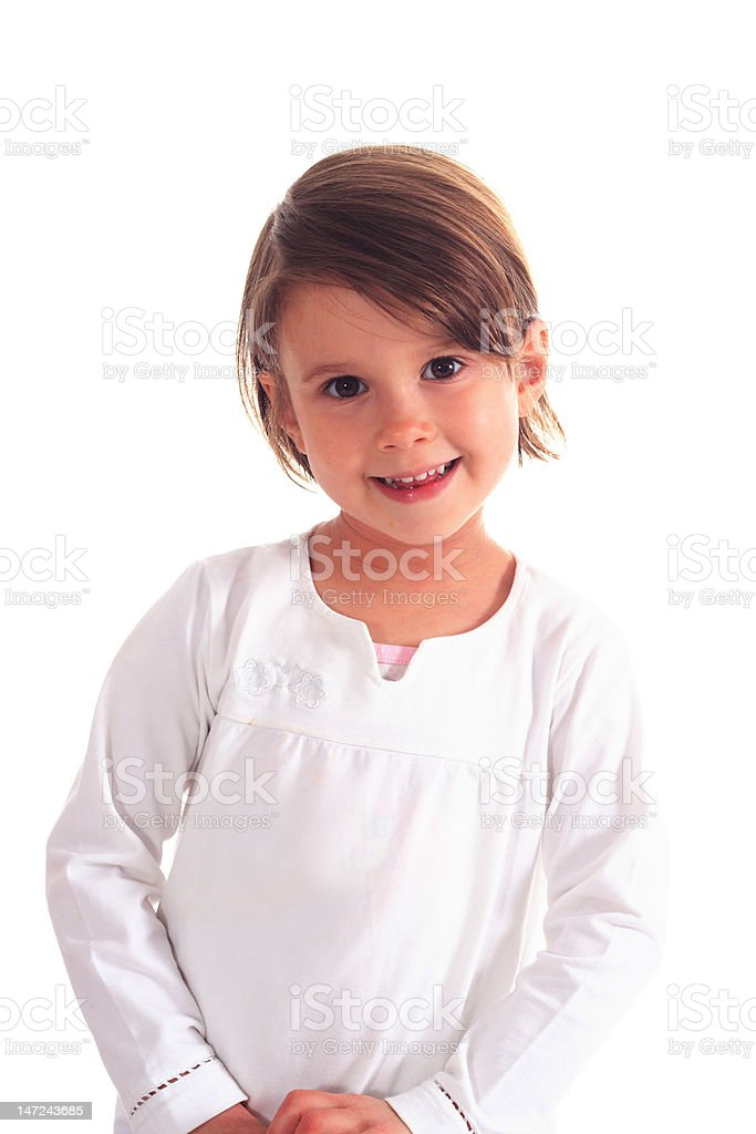 Portrait of cute girl royalty-free stock photo