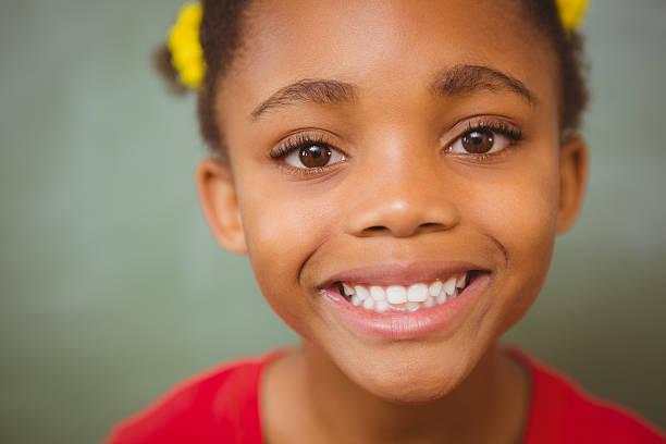 Portrait of cute little girl stock photo