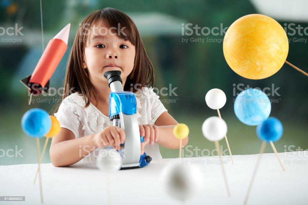 Porträt von niedlichen kleinen Forscher – Foto