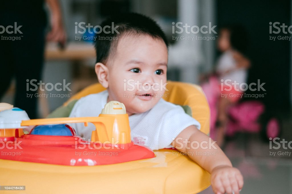 Portrait of Cute Malaysian New Born stock photo