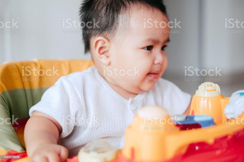 Portrait of Cute Malaysian New Born stock photo
