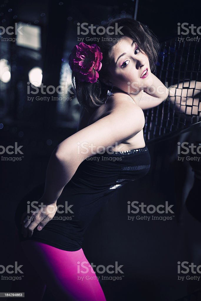 portrait of dancing girl royalty-free stock photo