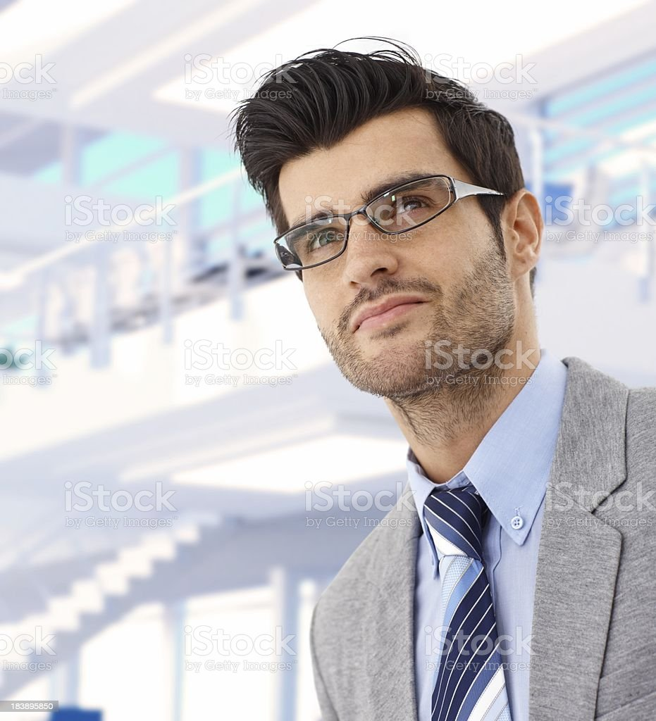 Portrait of dedicated young businessman royalty-free stock photo
