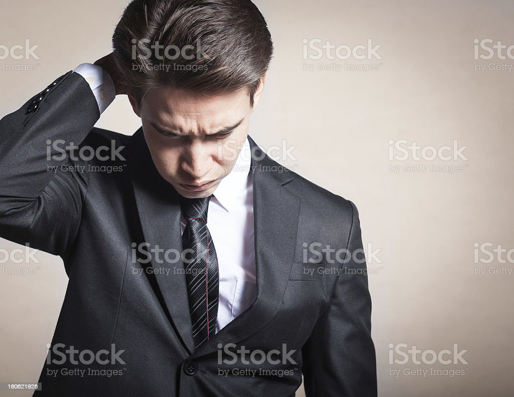 Portrait of depressed, sad man royalty-free stock photo