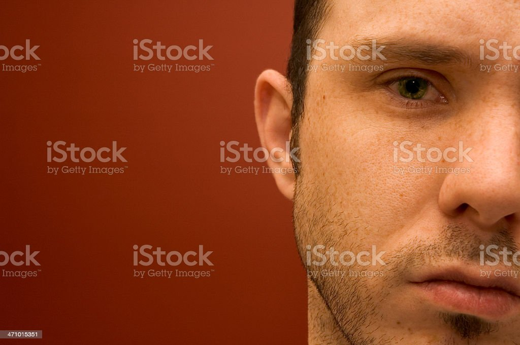 Portrait of Determined Male royalty-free stock photo