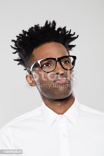 611876426 istock photo Portrait of disappointed afro american businessman 1095893828