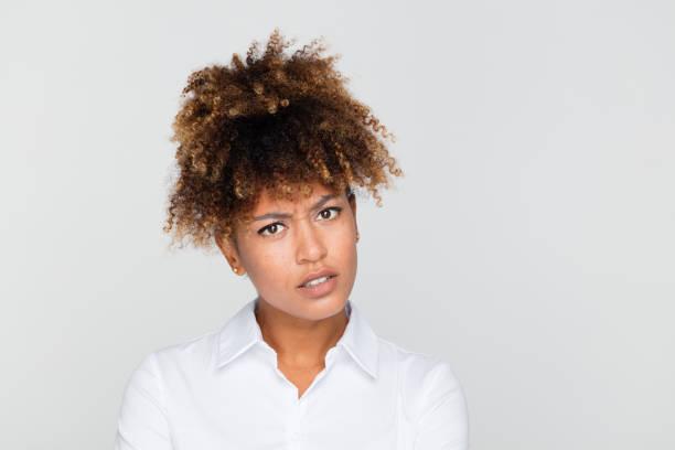 Porträt von unzufrieden geschäftsfrau – Foto