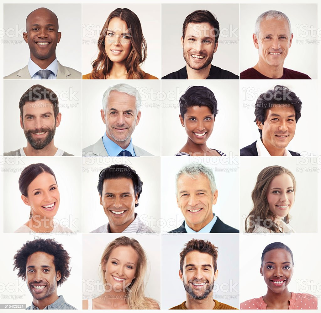 Portrait of diversity stock photo