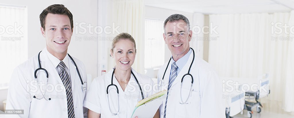 Portrait of doctors in hospital royalty-free stock photo