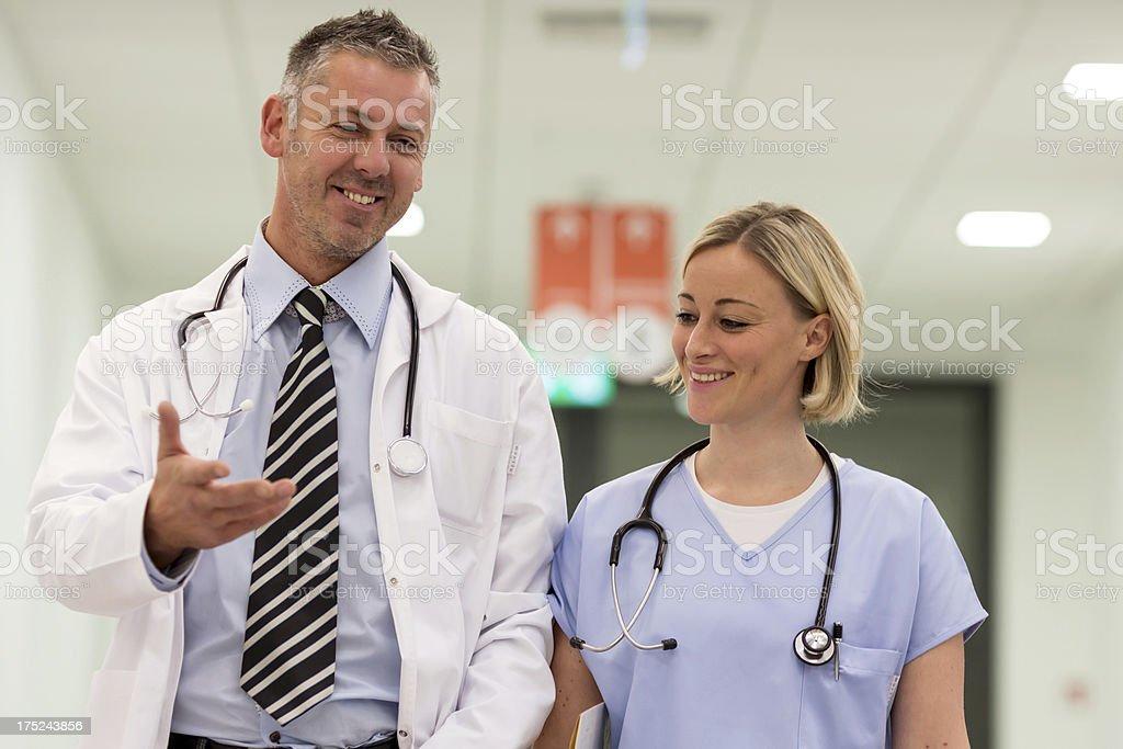 Portrait of doctors stock photo