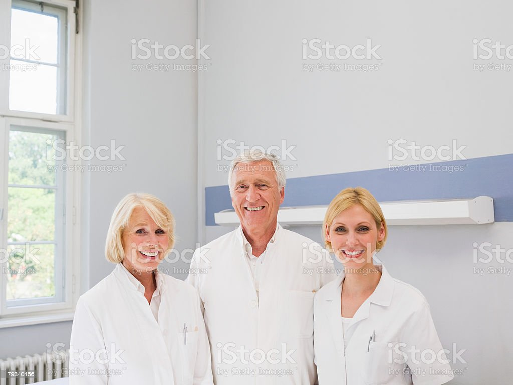 Portrait of doctors royalty-free stock photo