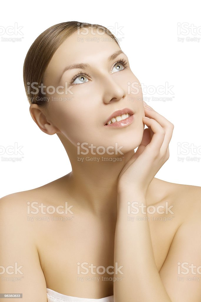 portrait of dreaming girl royalty-free stock photo