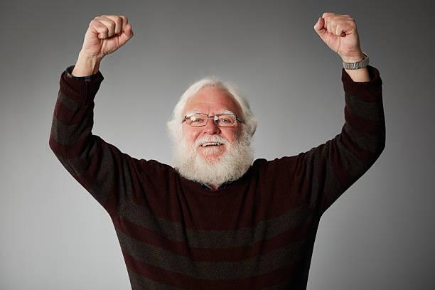Porträt von senior Mann Verzückt – Foto