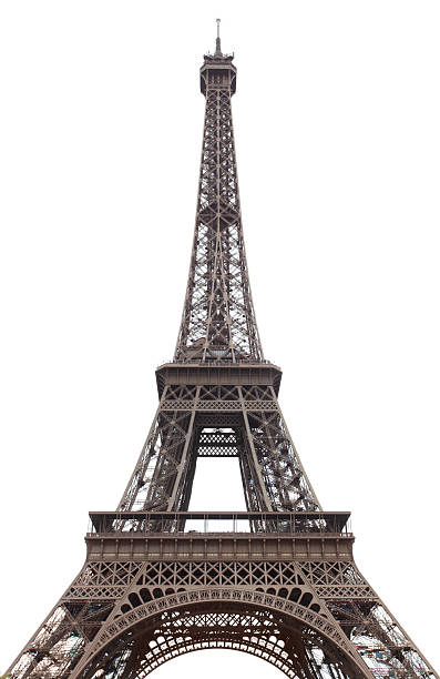 A portrait of Eiffel Tower in day time stock photo