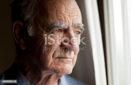 istock Portrait of Elderly man lost in thought 456868049