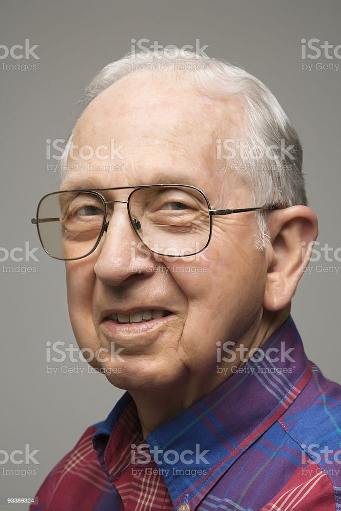 Portrait of elderly man. royalty-free stock photo