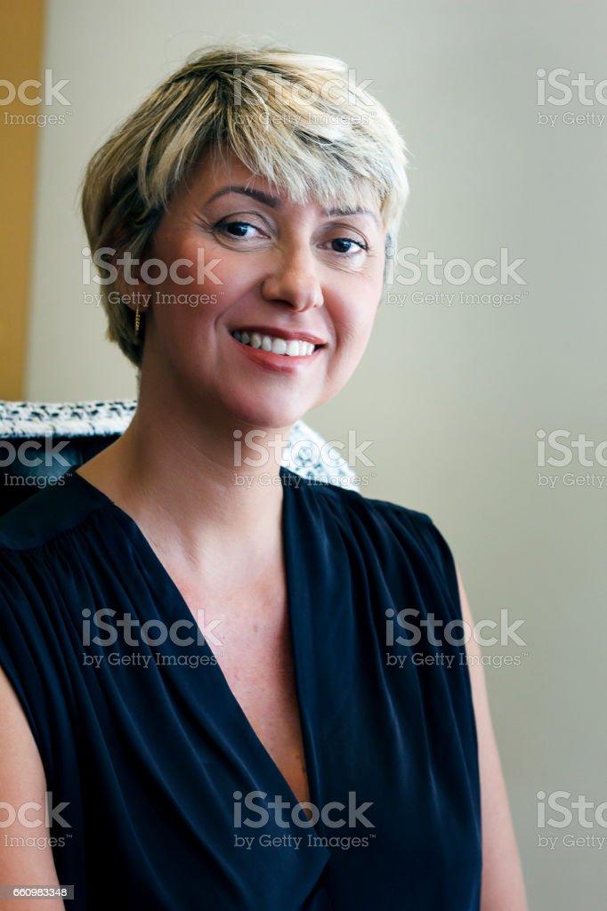 Portrait of elegant business woman stock photo