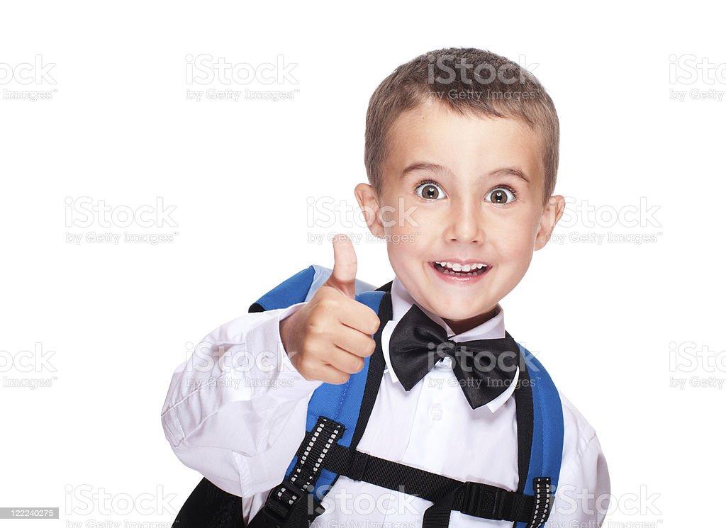Porträt der Grundschule Junge mit Daumen nach oben – Foto