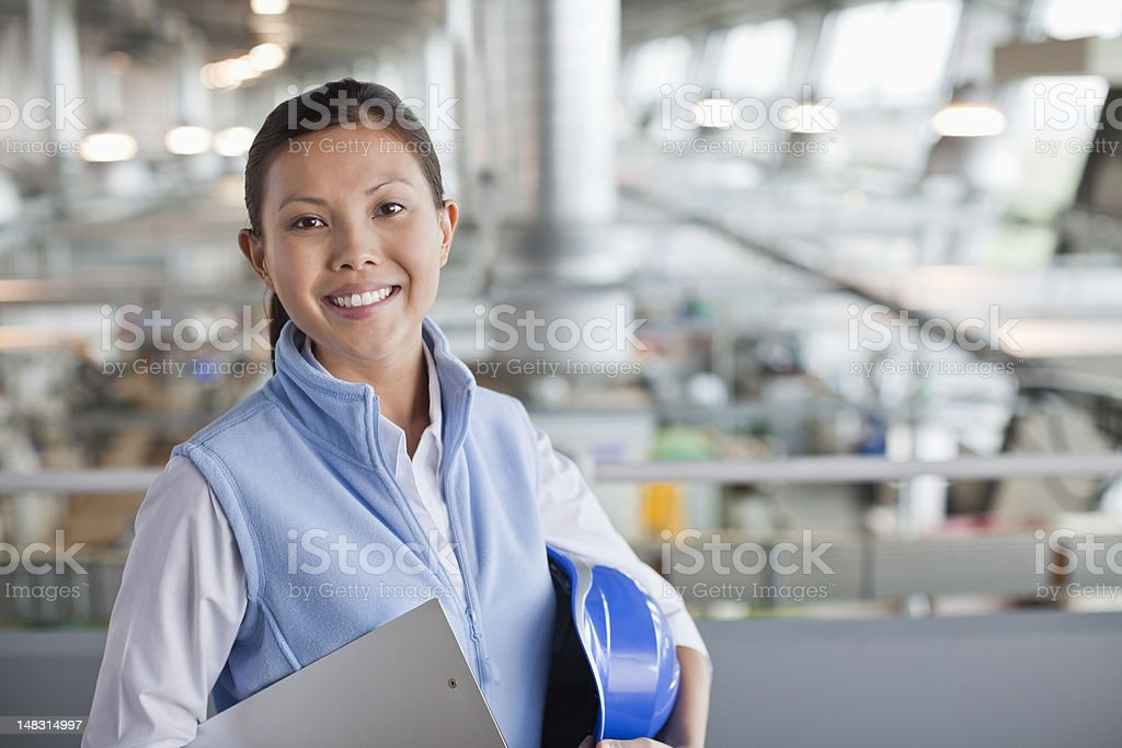 Portrait of engineer in factory stock photo