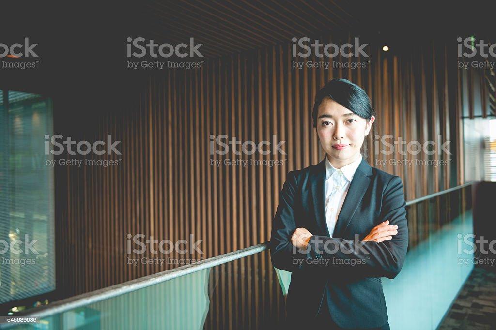 Portrait of Executive Female Japanese Businesswoman, Kyoto, Japan stock photo