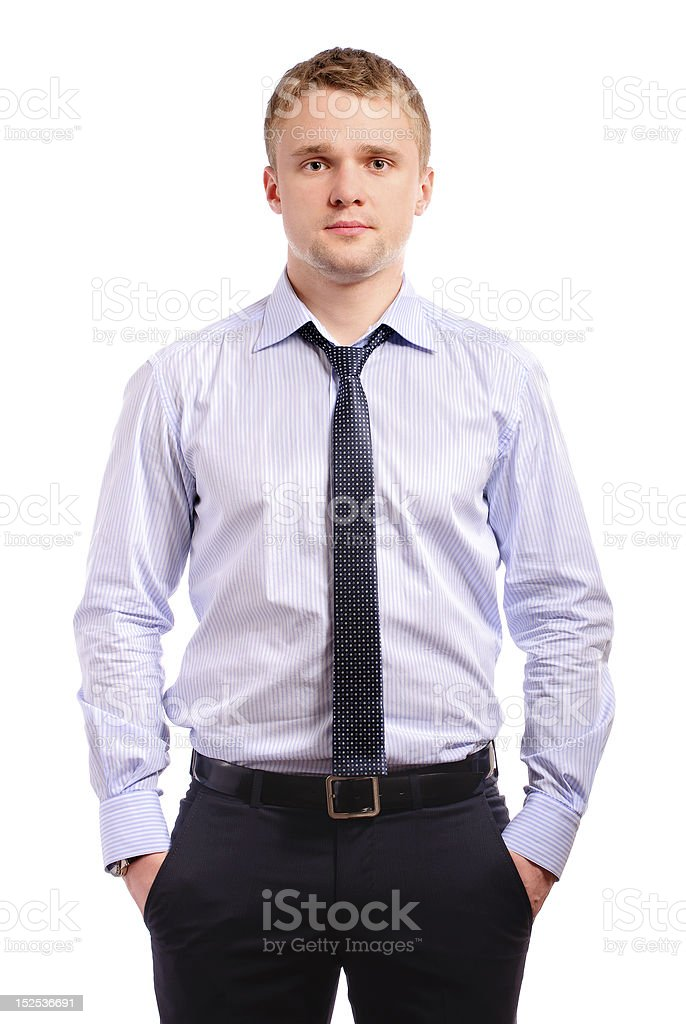 Portrait of fair-haired man royalty-free stock photo