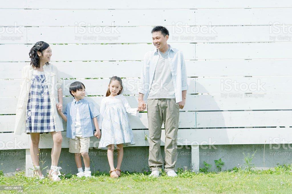 Portrait of family stock photo