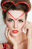 istock Portrait of fashion model in valentines look 637164368